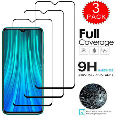 $3.66 • Buy For Xiaomi Redmi Note 8 7 6 5 Pro FULL 9D COVER Tempered Glass Screen Protector