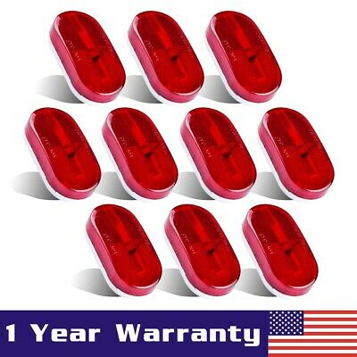 10PC 4  X 2  Red 6 LED Side Marker Camper Trailer RV Boat Light Clearance Lamps • 26.65$