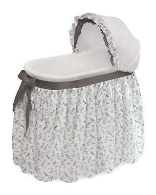 Wishes Oval Bassinet With Full Length Skirt In Gray Leaf [ID 3708098] • 85.51$