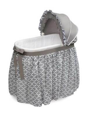 Wishes Oval Bassinet With Full Length Skirt In Gray Lantern [ID 3708099] • 85.51$
