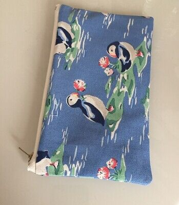 £5.99 • Buy Handmade  Cath Kidston Puffins  Fabric Coin/credit Card  Purse/pencil Case