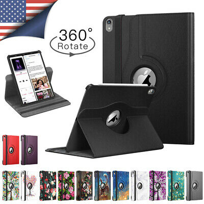 $16.99 • Buy 360 Rotating Genuine PU Leather Hard PC Smart Stand Case For IPad Pro 11  2018
