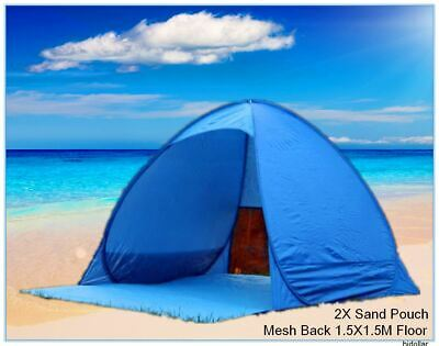 AU25.99 • Buy Instant Self Pop Up Picnic Dome Tent Beach Popup Sun Shade Sand Pouch Silvercoat