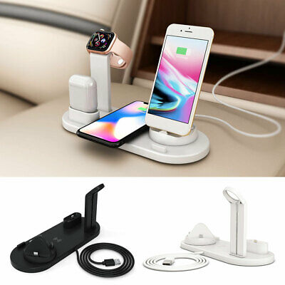 AU26.59 • Buy 3in1Qi Wireless Charger Fast Charging Dock Station Fr Airpods Apple Watch IPhone
