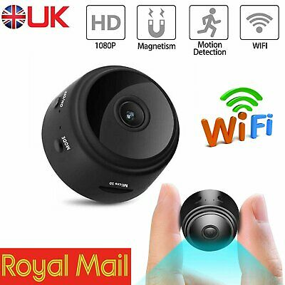View Details Mini Spy IP Camera Wireless WiFi HD 1080P Smart Network Monitor Security Cam UK • 32.71£