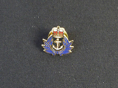 WRENS WRNS Womens Royal Naval Service Gold Plated Lapel Badge • 3.74£