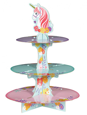 AU18.95 • Buy Party Supplies Birthday Girls Decorations Magical Unicorn Cupcake Stand