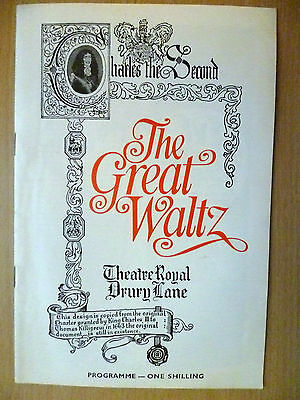 £4.99 • Buy 1969 Theatre Royal Drury Lane Programme: THE GREAT WALTZ By Jerome Chodorov