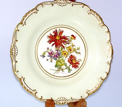LATE C19TH CENTURY MINTON HAND PAINTED CABINET PLATE BY J COLCLOUGH MADE ENG   • 42£