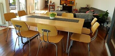 AU1000 • Buy Mid Century Modern Dining Suite With 8 Chairs. Good Used Condition.