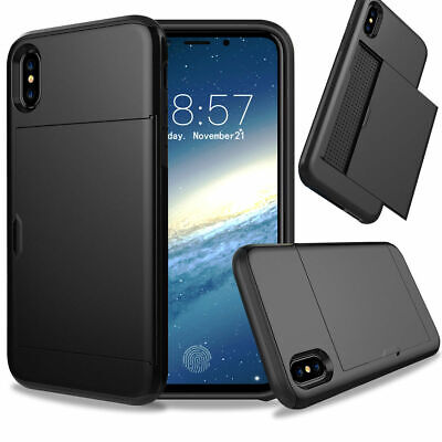 AU8.55 • Buy For IPhone X  Shockproof Phone Case With Credit Card Holder Cover