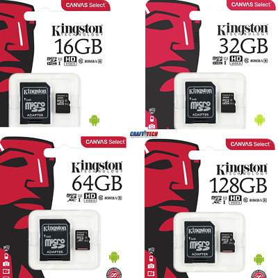 Kingston 80MB/s 16GB 32GB 64GB Micro SD SDHC UHS-I Class10 Memory Card • 6.25$