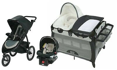$519 • Buy Graco Baby Stroller Jogger Travel System With Car Seat Playard Bassinet Combo