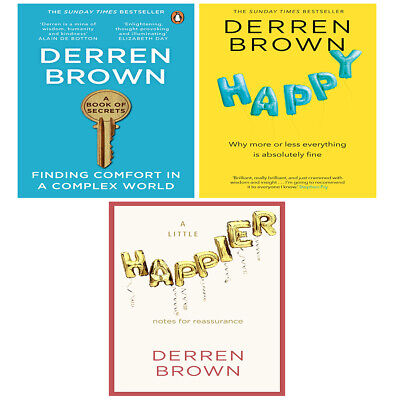 £27.99 • Buy Derren Brown 3 Books Collection Set Happy Why More Or Less Everything Brand New