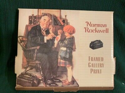$ CDN13.09 • Buy Norman Rockwell Framed Gallery Print  Doctor And The Doll  - Original Box