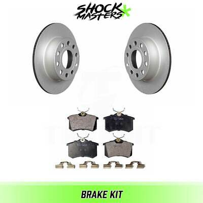 $55.63 • Buy Rear Ceramic Brake Pad & Coated Rotor Kit For 2012-2014 Volkswagen Jetta 253mm