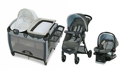 Graco  Baby Stroller Travel System With Car Seat Combo Portable Playard Bouncer • 317.66£