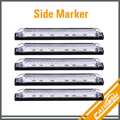(5) 8  Clear Lens Blue 18LED Waterproof Side Marker RV Boat Light Strip Light  • 18.50$
