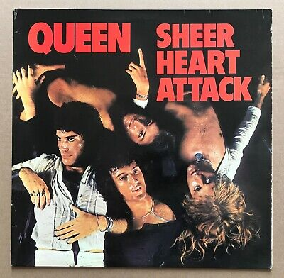 QUEEN - SHEER HEART ATTACK Uk 1st Pr EMI LP EMC 3061 -3U/-4U • 29.99£
