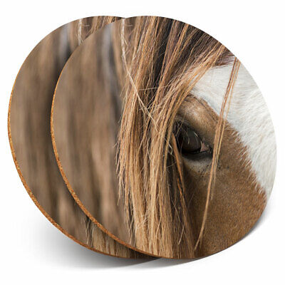 2 X Coasters - Clydesdale Horse Shire Working Home Gift #12392 • 5.99£