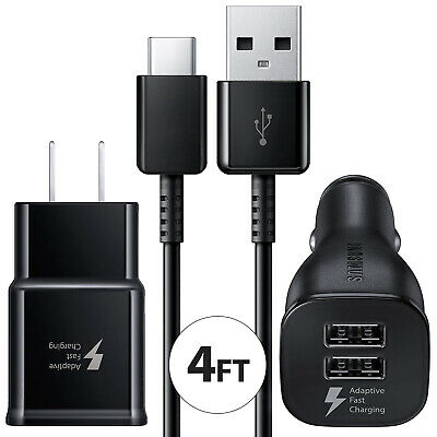 $ CDN10.03 • Buy Samsung Galaxy S10 S9 S8 Note9 8 Fast Charge USB Type C Wall Charger Car Adapter