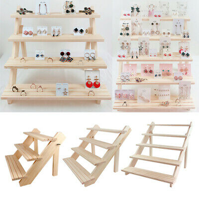 Unfinished Wooden Jewelry Display Necklace Earring Ring Bracelet Holder Rack • 22.32£