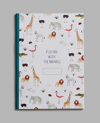 Children's Notebook, Animals, Lined Paper, Recycled Paper, Soy Ink, New • 3.95£