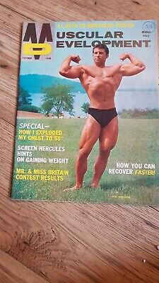 VINTAGE Muscular Development Magazine OCTOBER 1968  ARNOLD SCHWARZENEGGER • 39.99£
