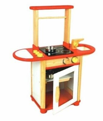 £39.99 • Buy Wooden Kitchen Combo Playset In Red By Pintoy
