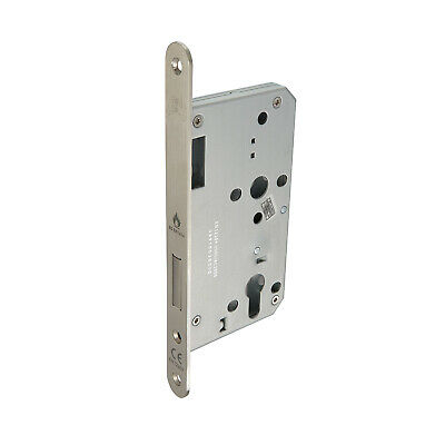 Mortice Deadlock Euro Lock Case 60mm With Satin Stainless Steel Finish • 8.95£