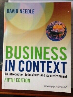 Business In Context David Needle • 8.50£