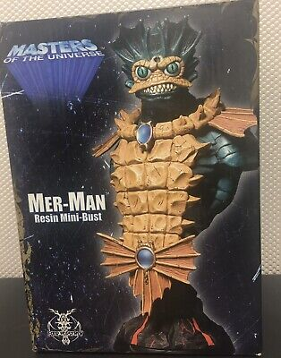 """$99.99 • Buy Mer-Man Masters Of The Universe Mini Bust 8"""" Resin Figurine"""