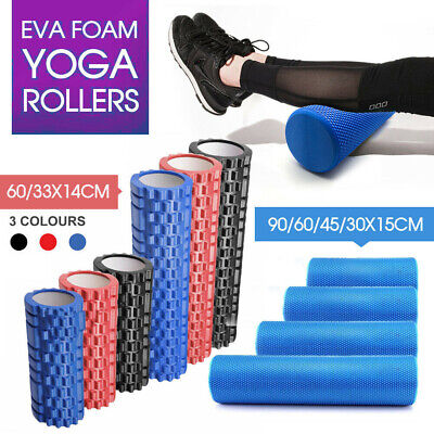 AU29.99 • Buy 30/45/60/90CM Physio EVA Foam Yoga Roller Gym Back Training Exercise Massage