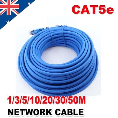 AU23.59 • Buy Ethernet High Speed CAT5e 1M-50M 24AWG Internet Network Lan Cable Cord Lead RJ45