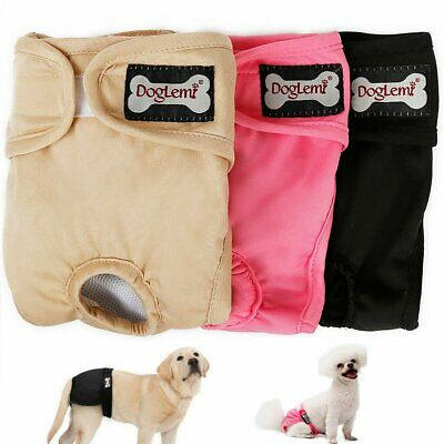 Female Pet Dog Diapers Puppy Nappies Washable Reusable Underwear Breathable Pant • 7.36£
