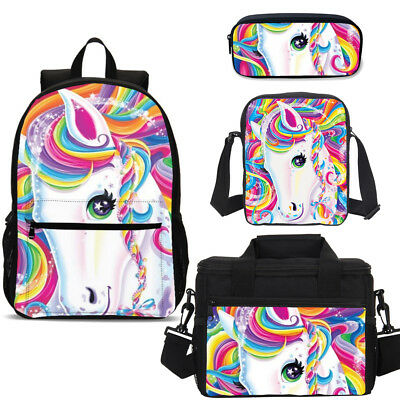 AU48.44 • Buy Teenager Large Capacity Backpack Colorful Unicorn Schoolbag Satchel Wholesale
