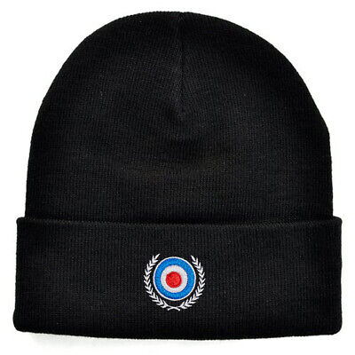 £12 • Buy Mod Target Embroidered Knitted Beanie Ski Hat