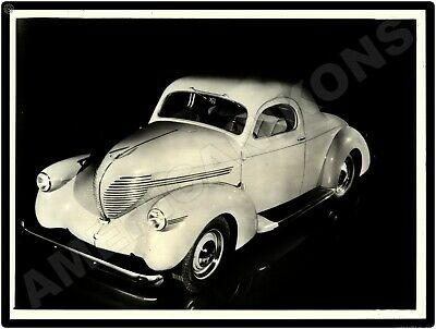 1939 Willys Automobile New Metal Sign: Americar Model From Original Press Photo • 15.88$