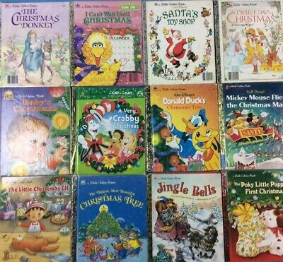 £14.19 • Buy Christmas Little Golden Books Lot Of 10 Mixed Titles FREE SHIPPING!!