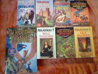 8 Piers Anthony Book Lot Apprentice Adept,Xanth,Mode,Incarnations Of Immortality • 20$
