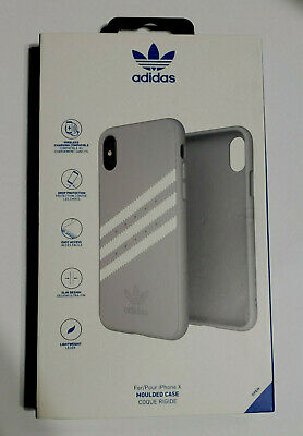 AU15.68 • Buy NEW Adidas Moulded Case For IPhone X IPhone XS 5.8  - GRAY WHITE STRIPES