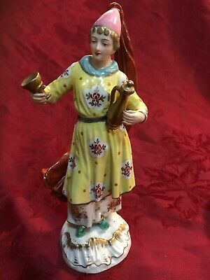$ CDN169.81 • Buy French Porcelain Figurine Lady W/ Decanter & Wine Glass FBS Mark W/ Blue Arrow
