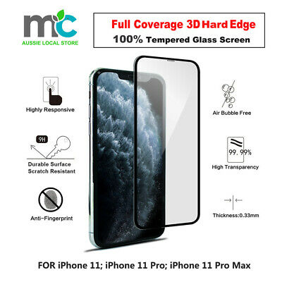 AU4.99 • Buy 2x Full Curved BlackEdge Tempered Glass Screen Protector  For IPhone 11 Pro Max