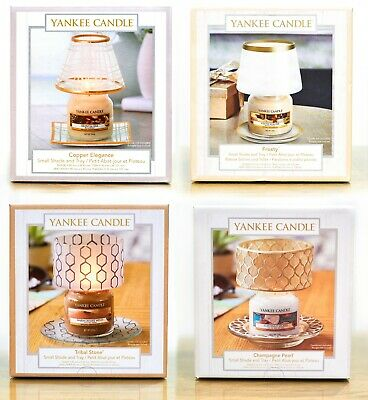 Yankee Candle Small Or Large Shade & Tray-Sheridan,Gold & Pearl, Copper Elegance • 21.99£