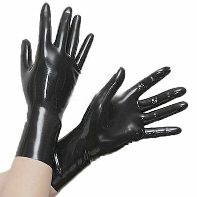 $19 • Buy Latex Short Gloves 0.4mm Club Wear For Catsuit Dress Rubber Fetish Costume
