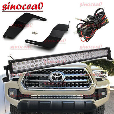 $90.99 • Buy 180W 30  LED Light Bar W/ Bumper Grille Mount Wire Harness For Toyota Tacoma 16+