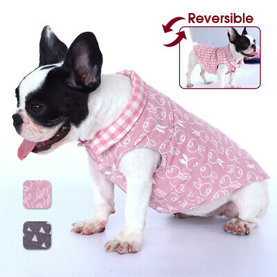 £5.66 • Buy Chihuahua Clothes Dog Coat For Winter Reversible Jackets Vest Apparel Schnauzer