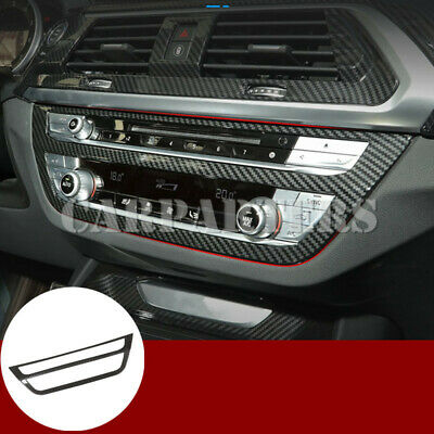 AU34.09 • Buy For BMW X3 X4 G01 G02 Carbon Fiber Style Center Console CD Panel Cover 2018-2019