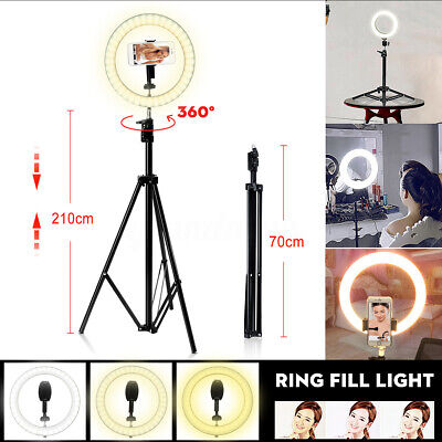 AU33.99 • Buy 🌟10  160 LED Ring Light Dimmable Diffuser Tripod Stand For Make Up Video Studio