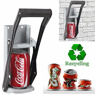 16oz 500ml Large Beer Tin Can Crusher Wall Mounted Recycling Tool Bottle Crusher • 12.90£